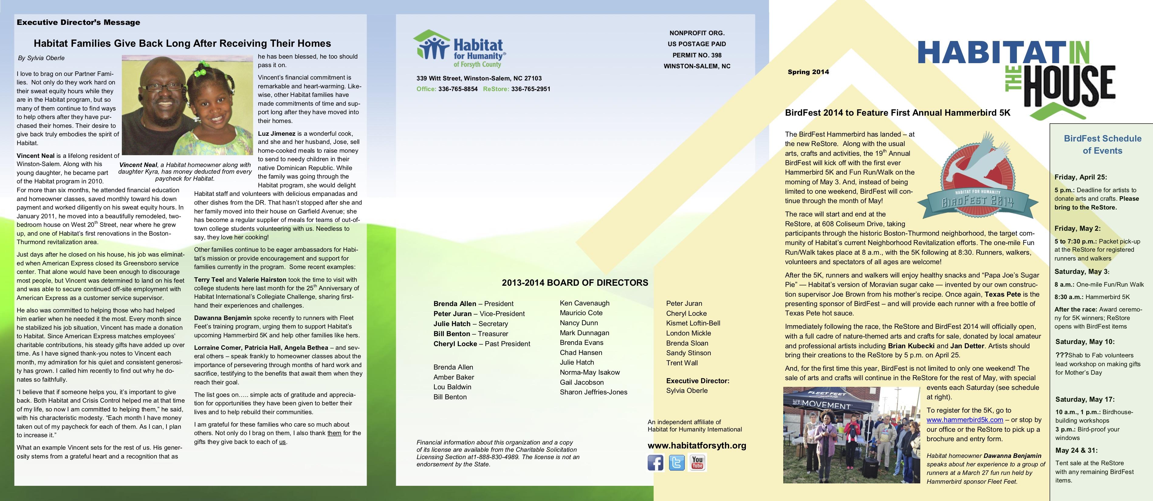 Spring April 2014 Newsletter